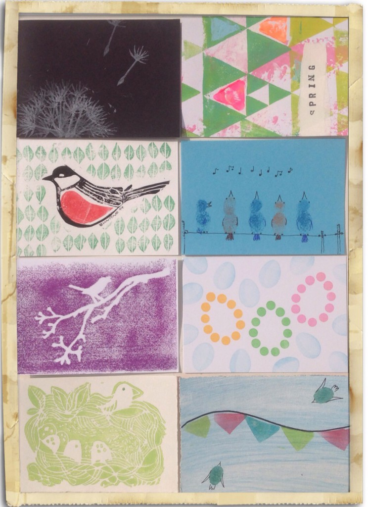 Frühling-Mail-Art 2014